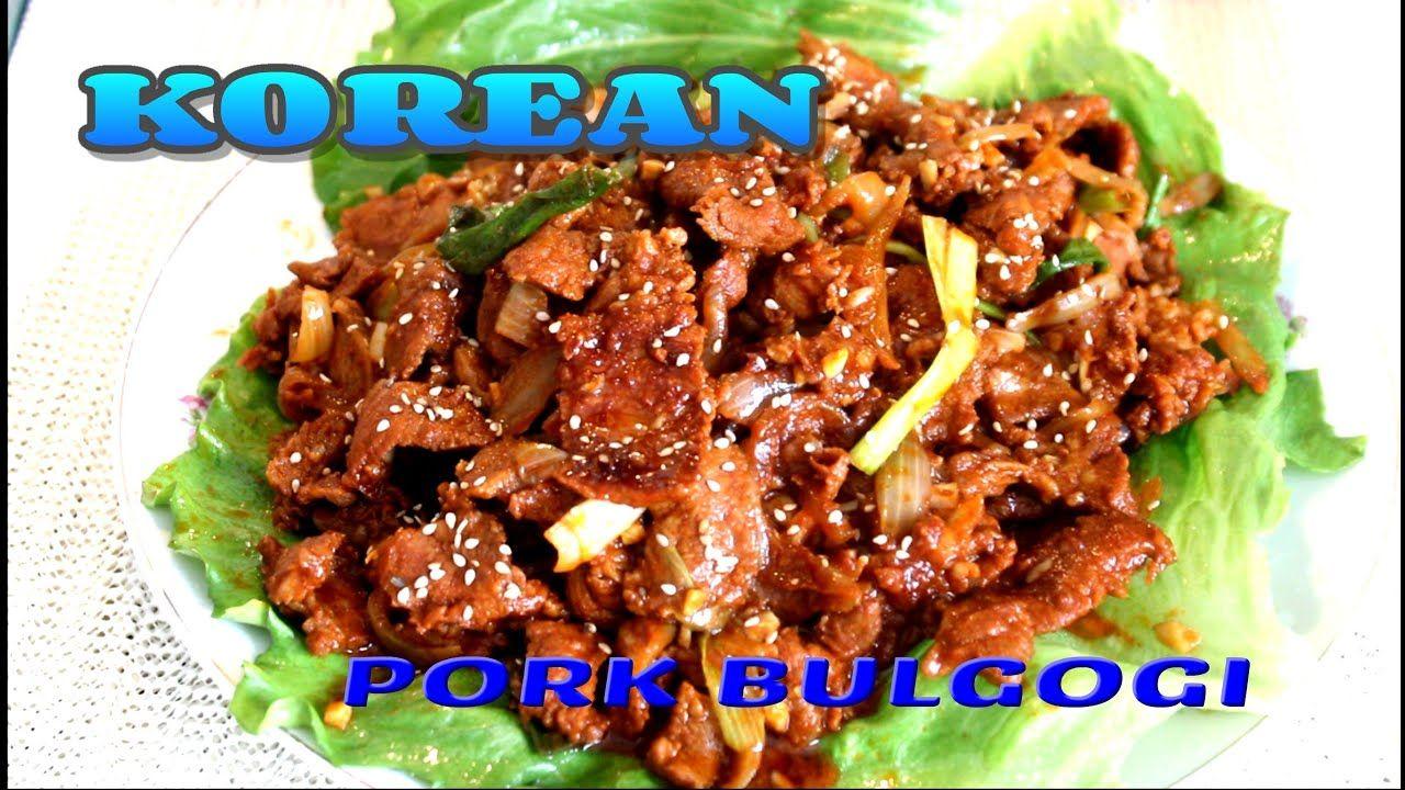 Pork Korean Bulgogi Recipe in 2020   Bulgogi, Pork bulgogi ...