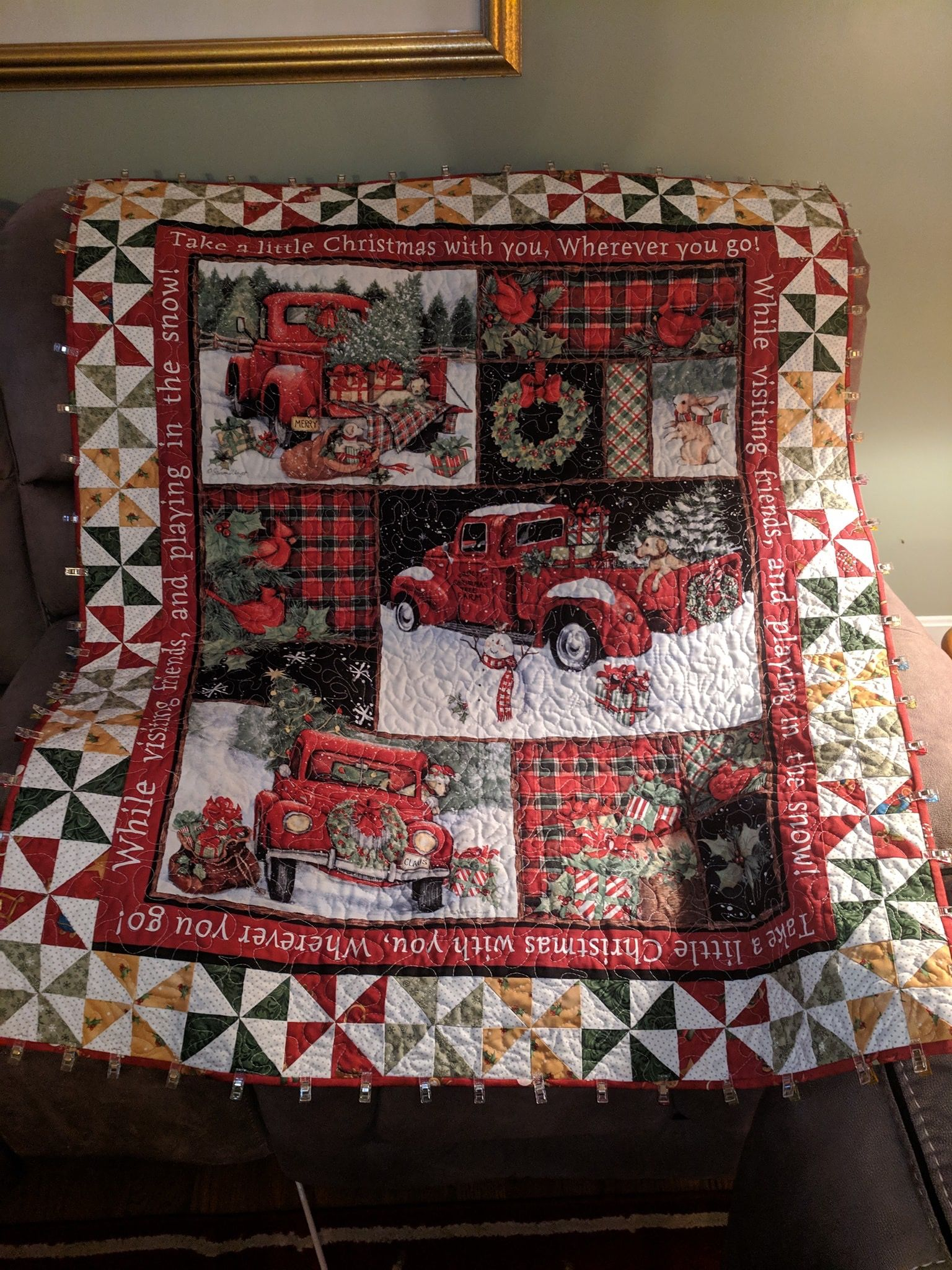 Christmas Panel Quilt Panel Quilts Christmas Quilts Quilts