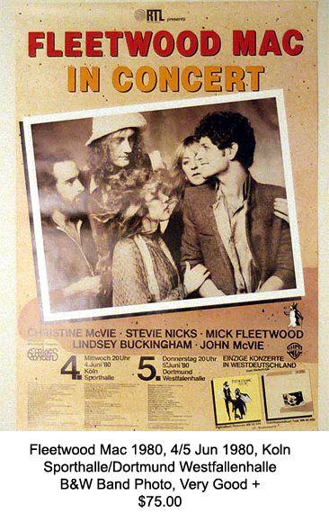 Stevie Nicks      1980/'s   Vintage  Promotional  Concert  Poster   Fleetwood Mac