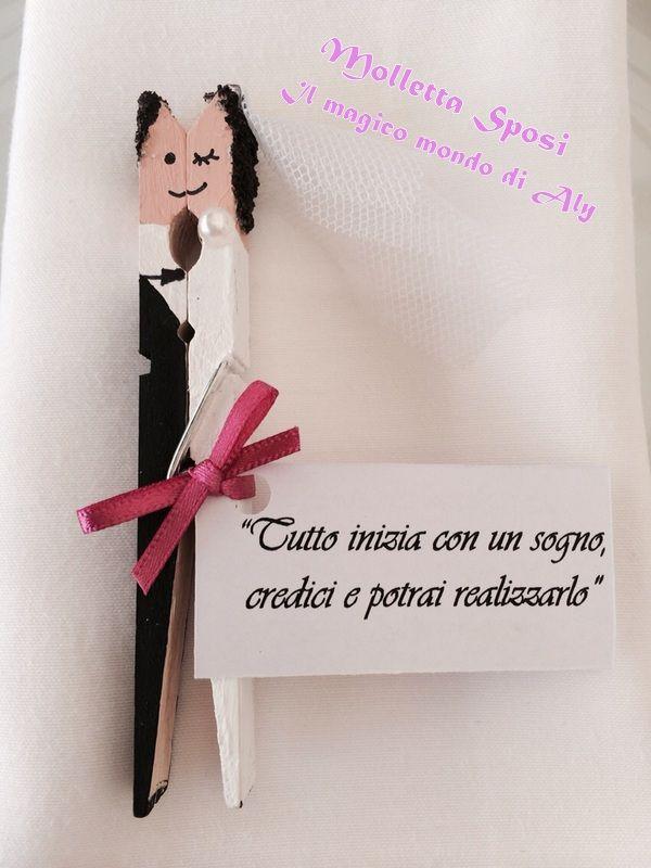 Segnaposto Matrimonio Quilling.Molletta Sposi Regalo Matrimonio Fai Da Te Borsa Da Sposa