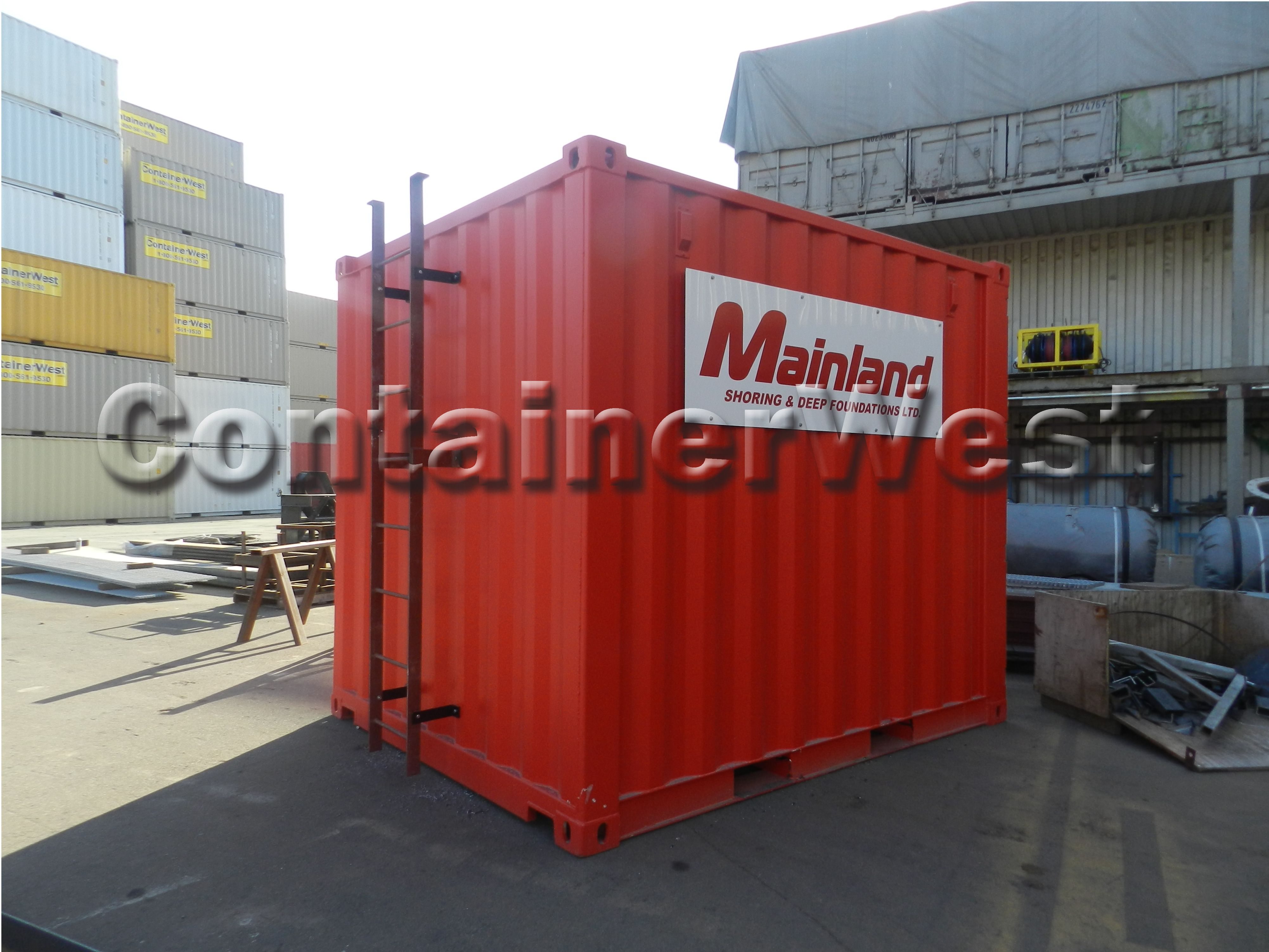 This #Red Mini Container Features A Security Lock Box And