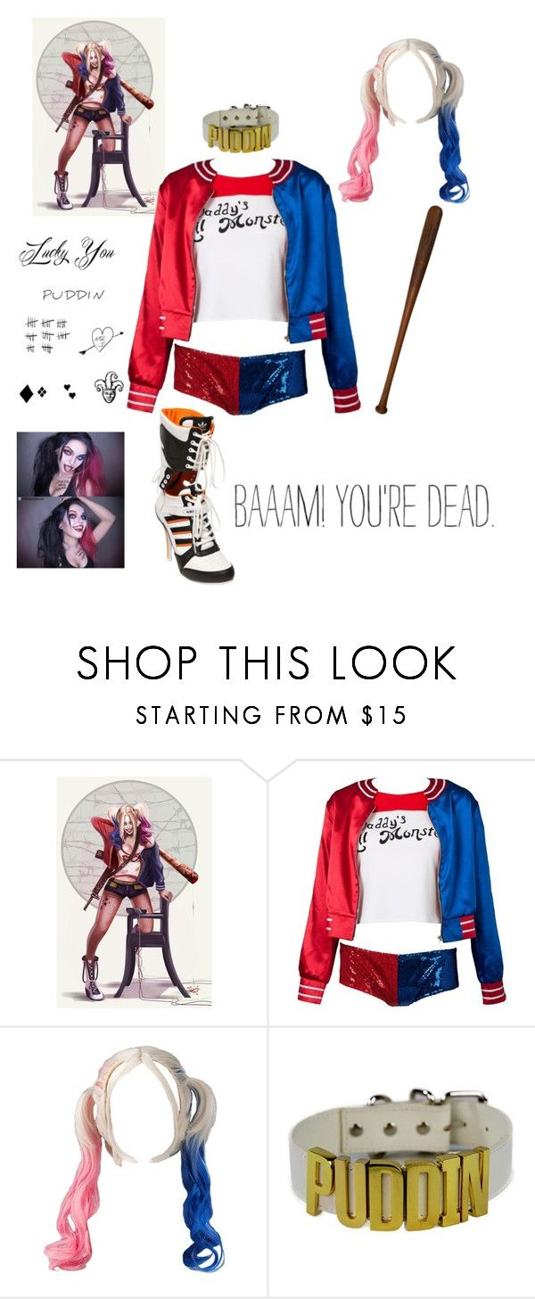 """Harley Quinn"" by narissisticaj ❤ liked on Polyvore featuring Go Under"