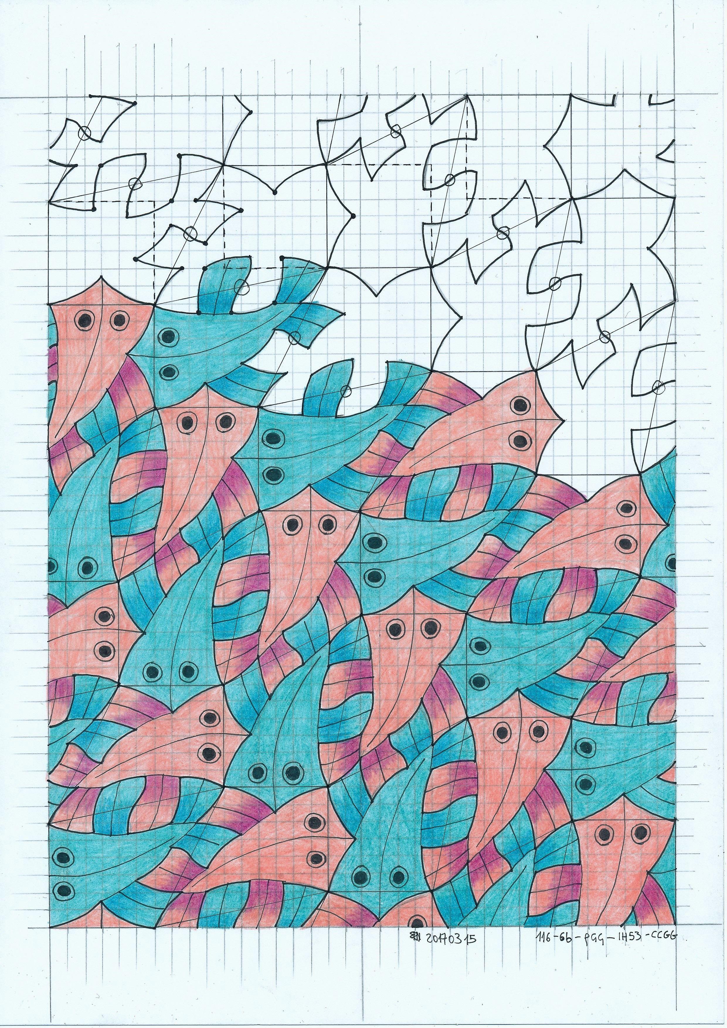 Mc Escher 116 Tessellation Tiling Wallpaper Handmade Infinity Escher Symmetry Geometry Structure Mathart Regolo54 Dibujo Geometrico Artistas Dibujos