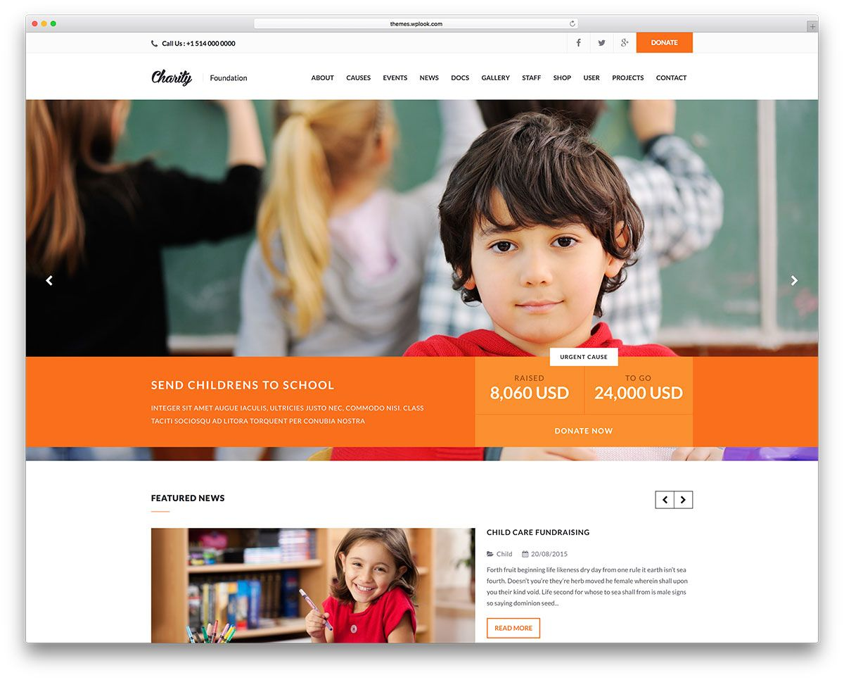 for most charity and non profit organizations using wordpress as an online platform is a practical choice to get a decent and professional online presence