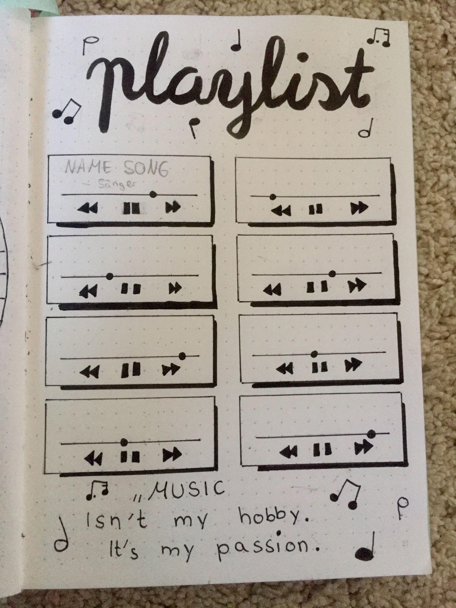 Bullet Journal #bujo #playlist #layout #music