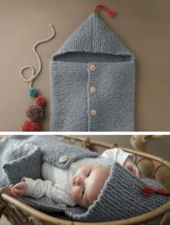 Baby Sleeping Bag Knitting Pattern : Knitted Baby Cocoons Free Patterns You Will Love Baby cocoon, Patterns and ...