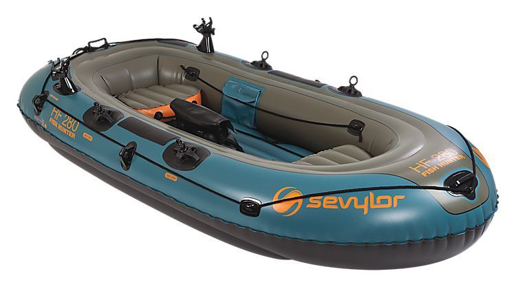 Sevylor Fish Hunter 4 Person Inflatable Boat Bass Pro Shops The Best Hunting Fishing Camping Out Inflatable Boat Inflatable Kayak Fishing Boats