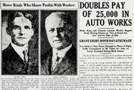 Real News Clipping From Jan 5 1914 When The Ford Motor Company Shocked The Titans Of American Industry By Raising It S Wa 8 Hour Work Day Henry Ford Work Week