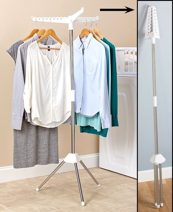d2d2241e455 Foldable Clothes Laundry Drying Rack Dryer Hanger Stand Hang and Dry Small  Space  FoldableClothesLaundryDryingRack