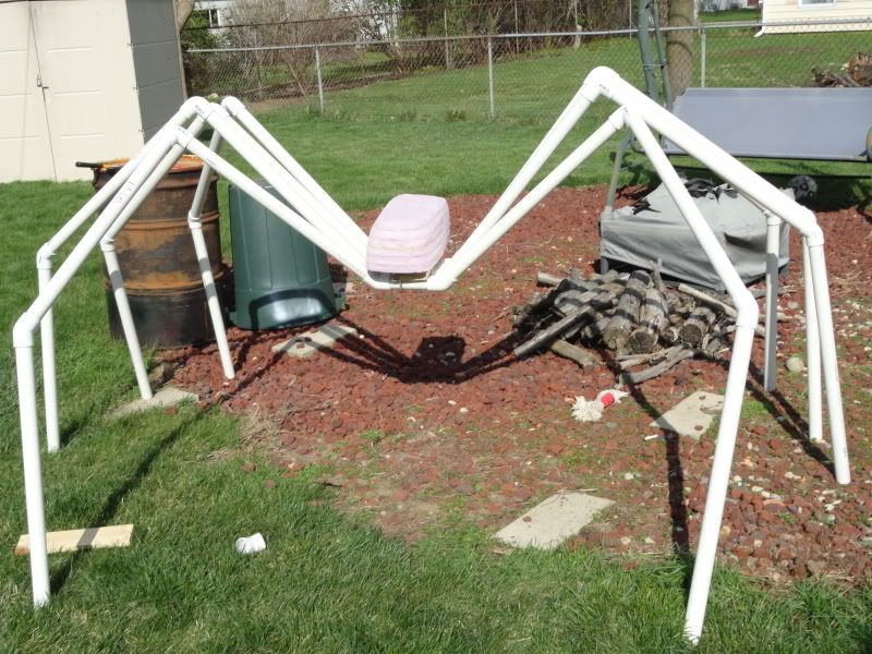 giant spider pvc legs halloween - Giant Spider Halloween Decoration