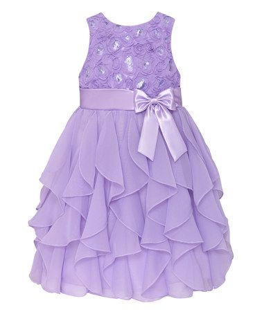 Look what I found on #zulily! Lilac Ruffle Tier Dress - Toddler & Girls #zulilyfinds