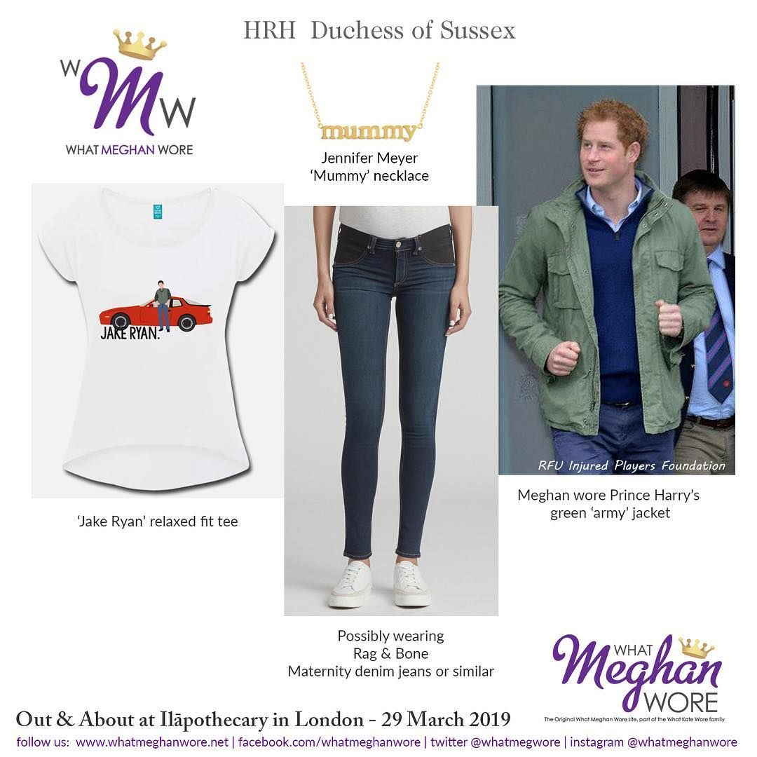 What Meghan Wore Whatmeghanwore On Instagram A Quick Outing Last Friday And A Little 80 S Nostalgia Relaxed Fit Tee Meghan Markle Style Maternity Denim
