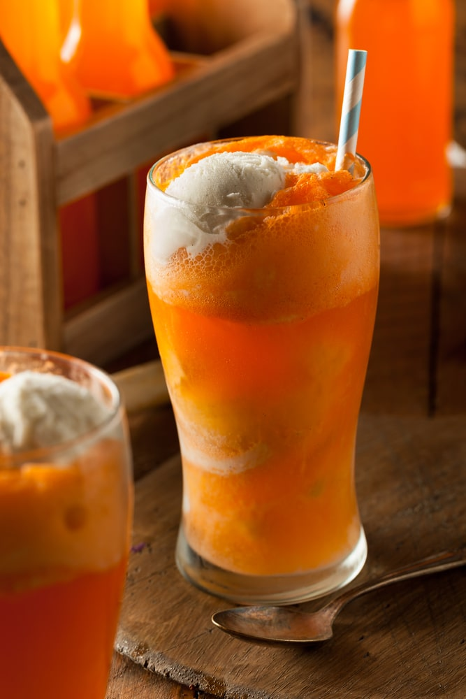 Boozy Creamsicle Float Food And Drink Creamsicle