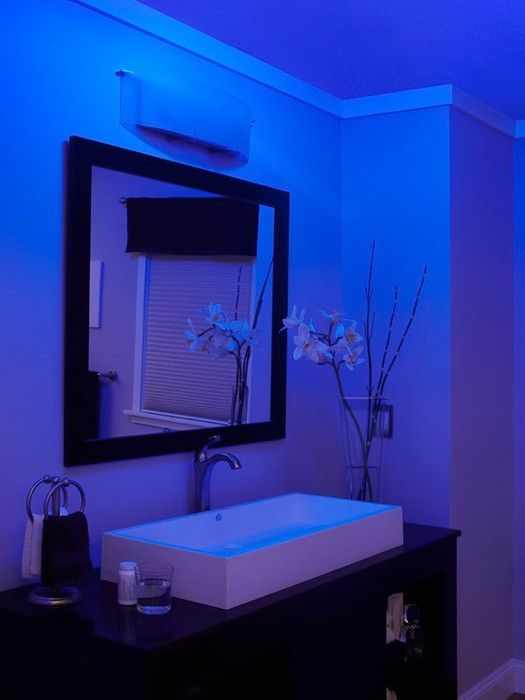 Nutone Lunaura Blue Glow Bathroom Exhaust Fan Ceiling Light And Night Led Uses Much Less Energy