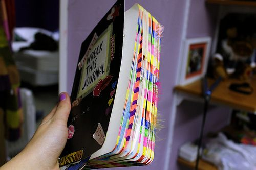 """i seriously cannot wait for my """"wreck this journal"""" to look like this"""