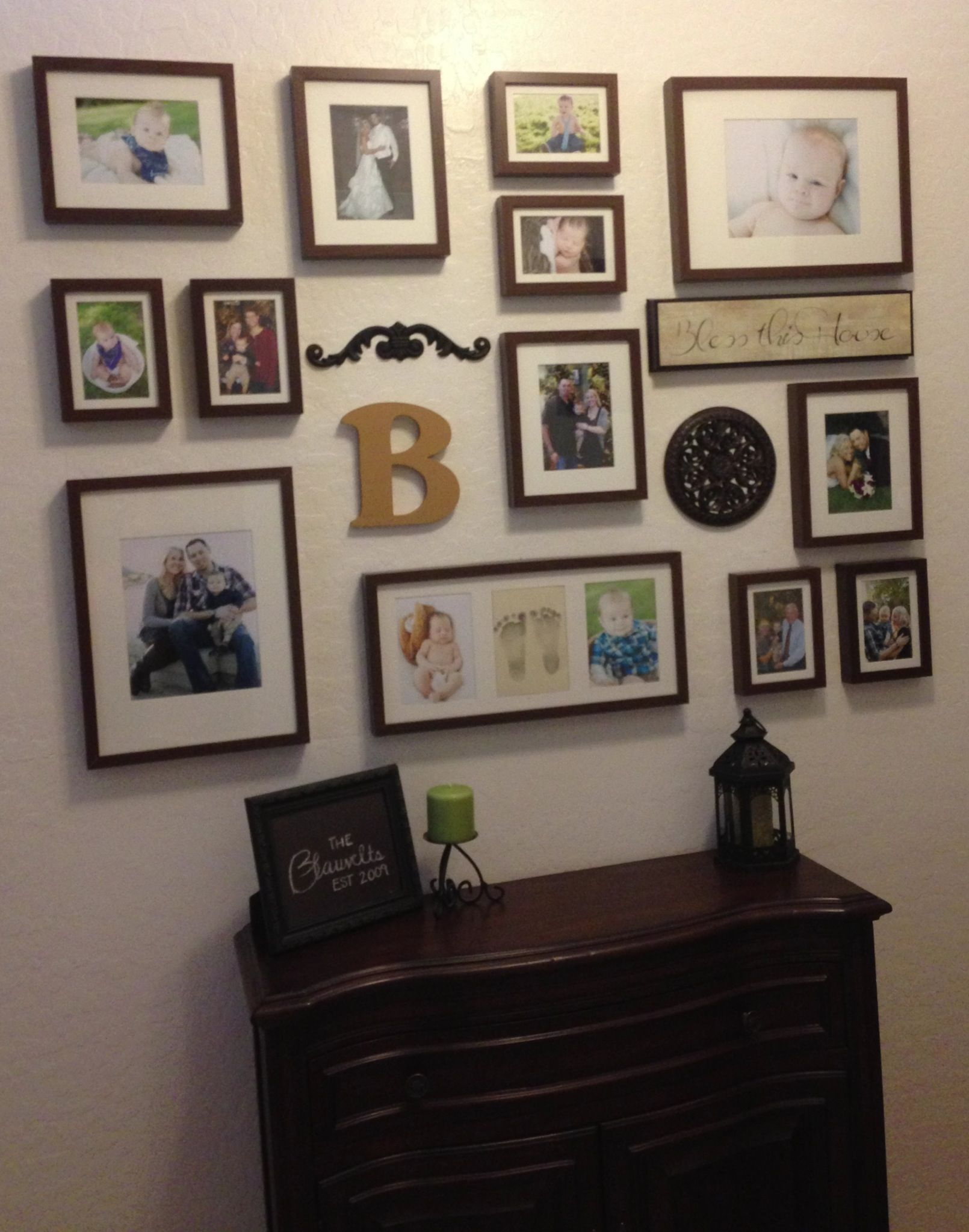 Affordable Frames For A Picture Wall Hallway Decorating