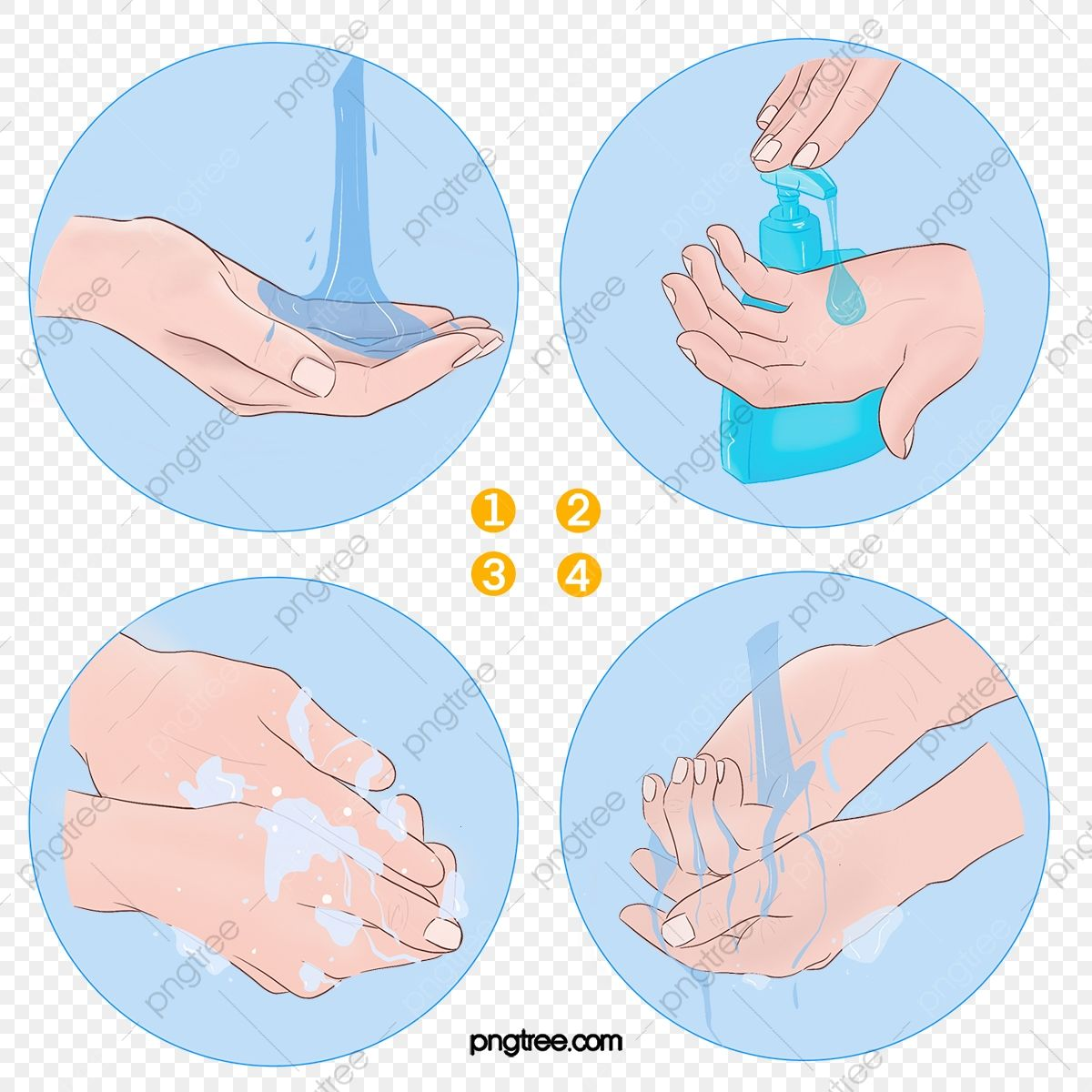 Hand Drawn Washing Steps Hand Clipart Washing Hands Hand Washing Steps Png Transparent Clipart Image And Psd File For Free Download ศ ลปะลายม อ ใบหน า สต กเกอร