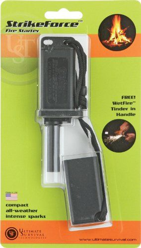 Ultimate Survival Technologies Strikeforce Fire Starter Black You Can Get Additional Details At The Image Link Survival Fire Starters Stove Accessories