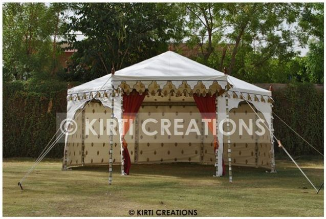 Outdoor Wedding Tent With Three Side Open In Elegant Prints Party Tent Party Tent Rentals Luxury Tents