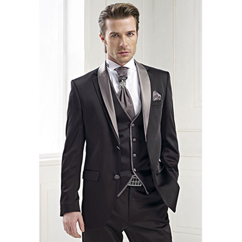 wedding tuxedo black groom wear for men bridegroom suits man 3 ...