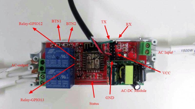 Electrodragon Wifi Iot Relay Includes Esp8266 Module Ac Power