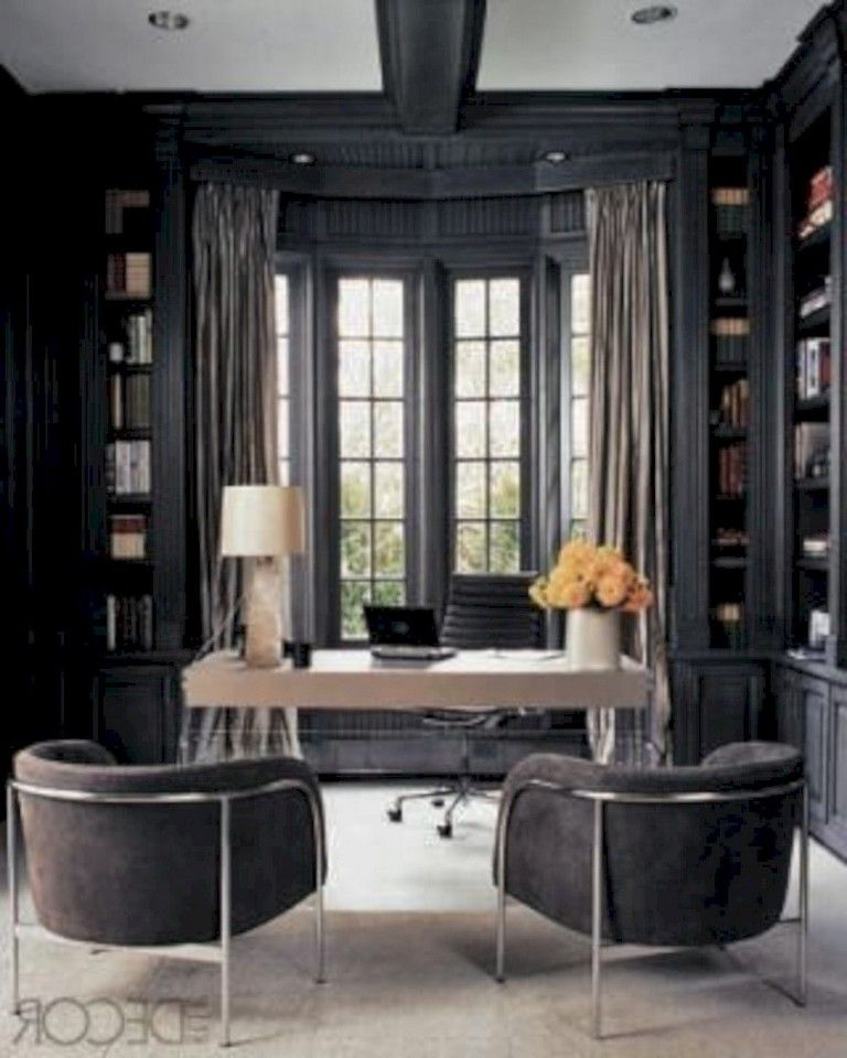 Masculine Home Office Design Ideas from i.pinimg.com