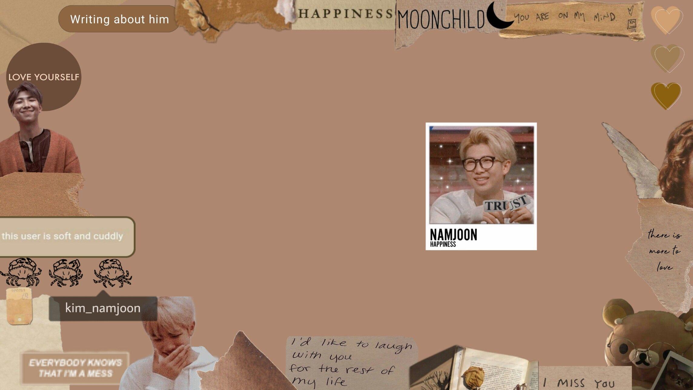 namjooncover photoaesthetic brown tonelaptop