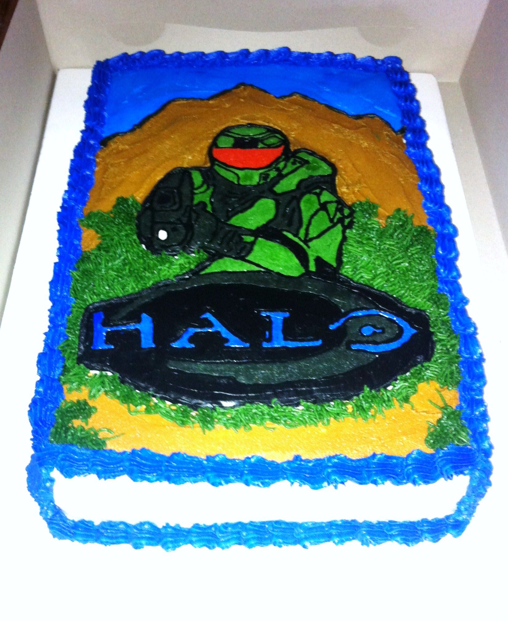 Halo Birthday Cake Halo Buttercream Transfer