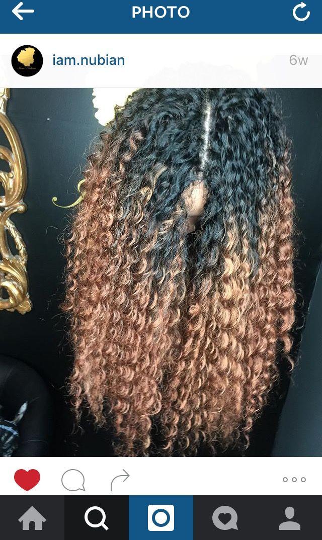 Deep Twist Long Crochet Middle Part Ombre Crochet Crochet Braids Hairstyles Crochet Hair Styles Hair Styles