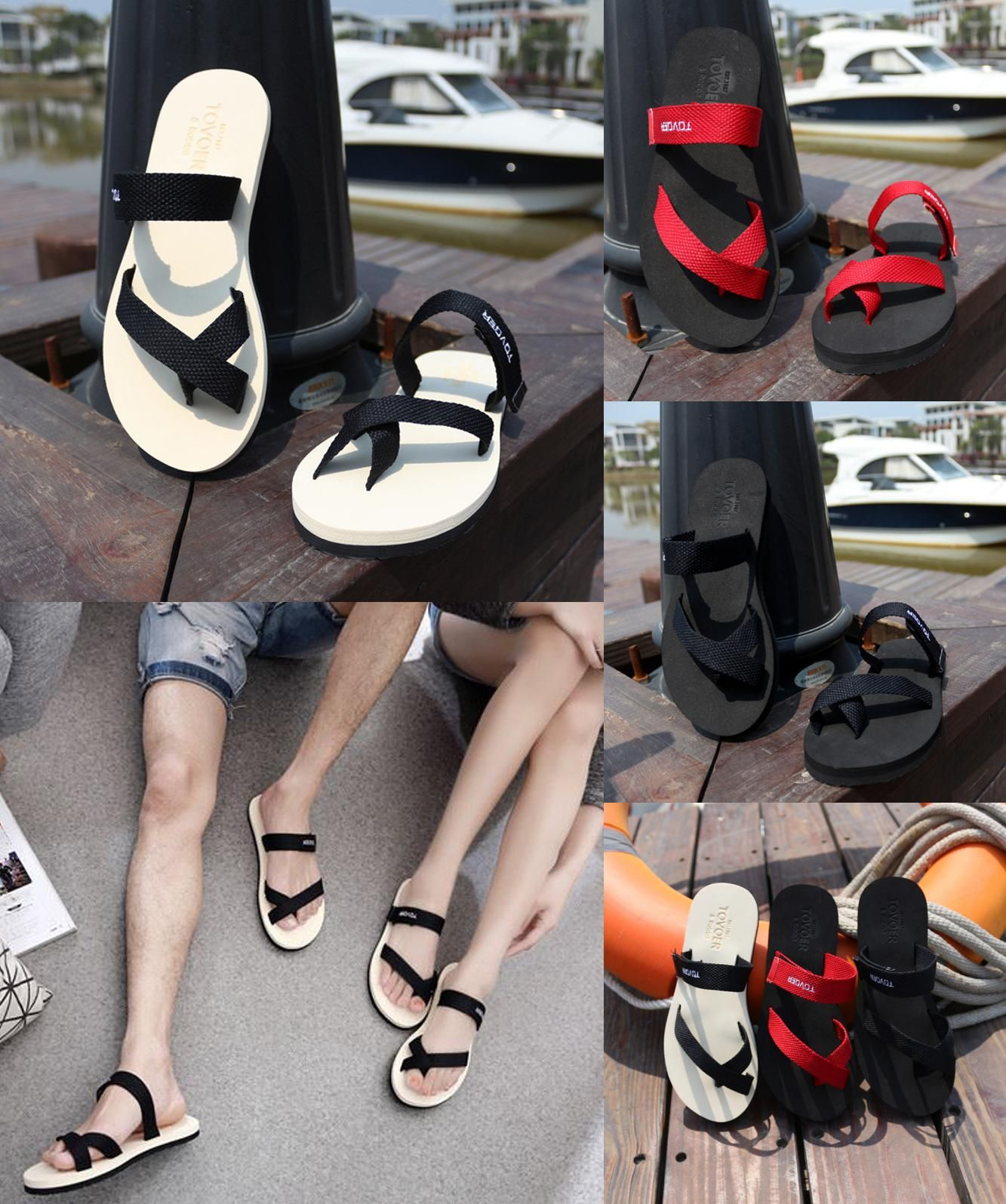 3046e15e193d  Visit to Buy  Summer Style Hot Sale Cool Simple Lover Slippers Designer  Flip Flops