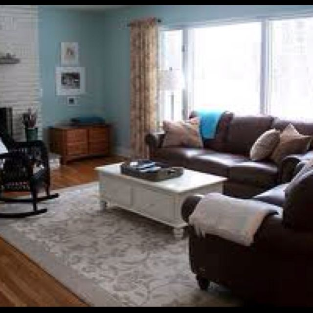 You Can Attain Shabby Chic Using Dark Sofas We Have Brown Leather That Blue Living Room