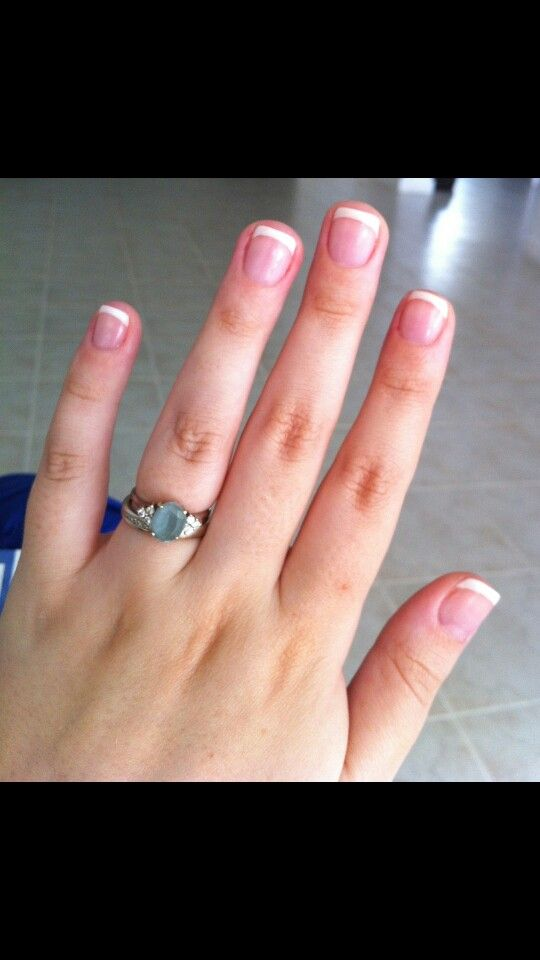 gel nails, short & sweet french | Nails | Pinterest