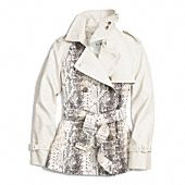 colorblock python short trench