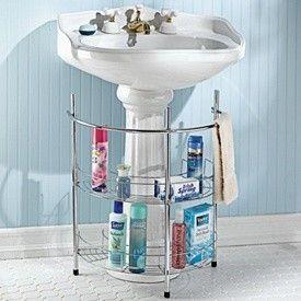 Attractive Semi Circular Under Pedestal Sink Caddy