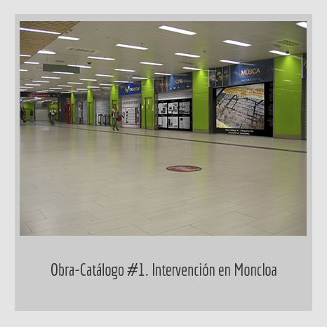 OBRA CATÁLOGO METRO. YENY CASANUEVA Y ALEJANDRO GONZÁLEZ. PROYECTO PROCESUAL ART