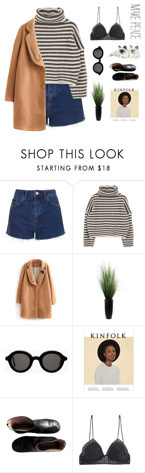 """""""MAKEPEACE"""" by xxpai ❤ liked on Polyvore featuring Topshop, Laura Ashley, Mykita, Maison Margiela and SHE MADE ME"""