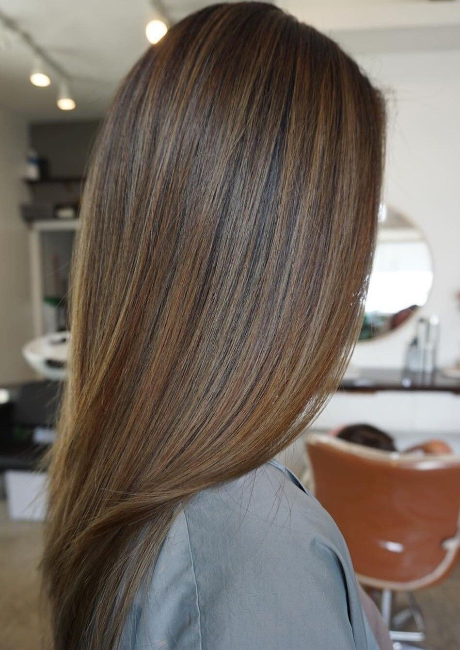 Pin By Ananya On Chocolate Brown Hair Color Straight Brunette Hair Hair Highlights And Lowlights Brown Straight Hair