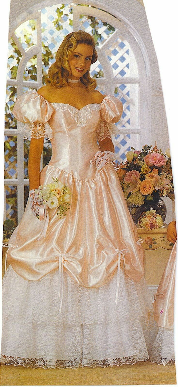 5a6ddf8e3c3b4 1980s Peach Bridesmaid Dresses