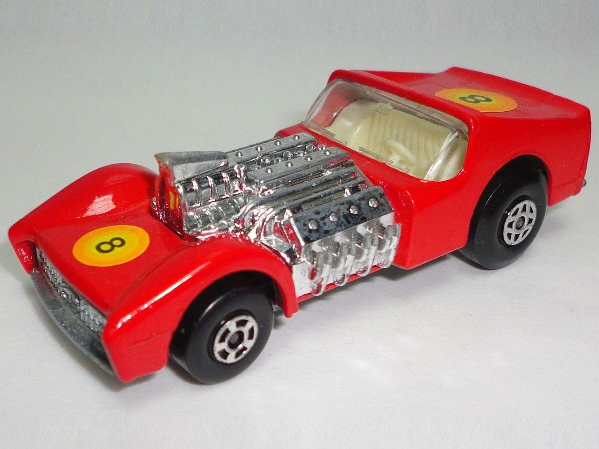 Vintage 1970 Matchbox Red Road Dragster Number 19