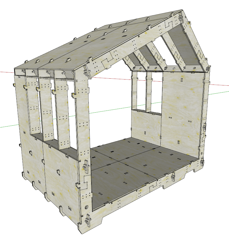 Open Source House Plans wikihouse open source cnc tiny home design. can be assembled