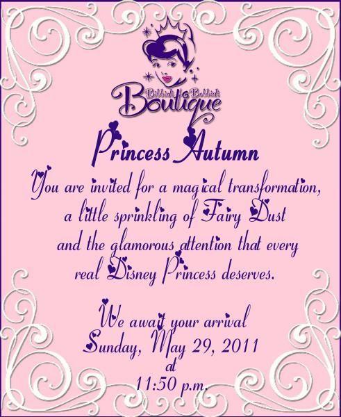 Invitation Idea Bibbidi Bobbidi Boutique Disney Christmas