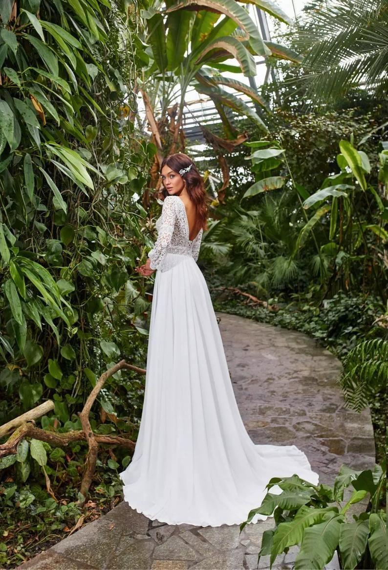 Boho Wedding dress, Bohemian Wedding Dress, Boho L