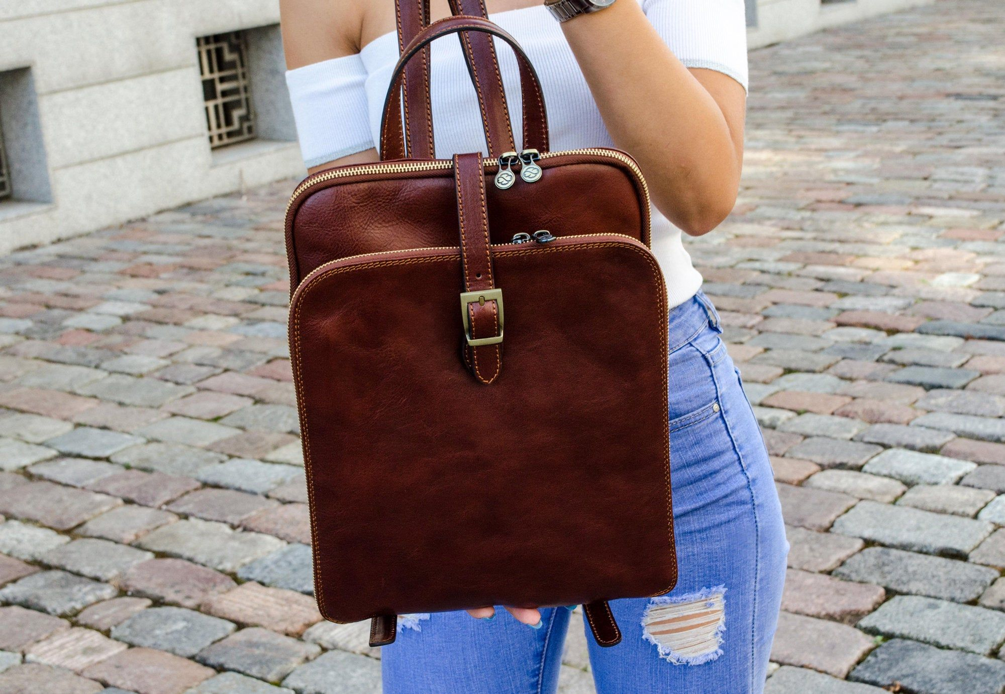 Time Resistance Womens Clarissa Backpack Orange//Brown
