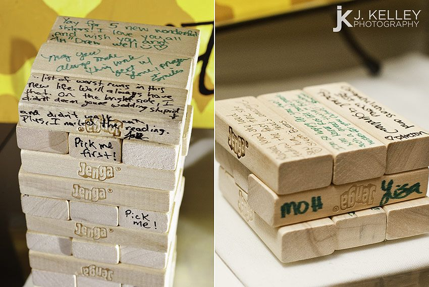 Jenga wedding guest book cool guest book ideas columbia mo wedding