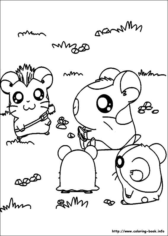 Hamtaro coloring picture | Coloring and Activities | Pinterest