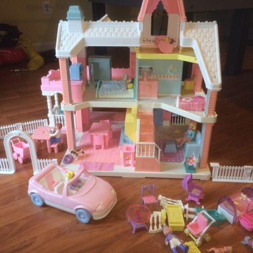 Playskool Vintage Victorian Doll House Sundeck Car And Lots More
