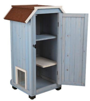 cat 39 s home niche maison en bois pour chat cat 39 s home cat. Black Bedroom Furniture Sets. Home Design Ideas
