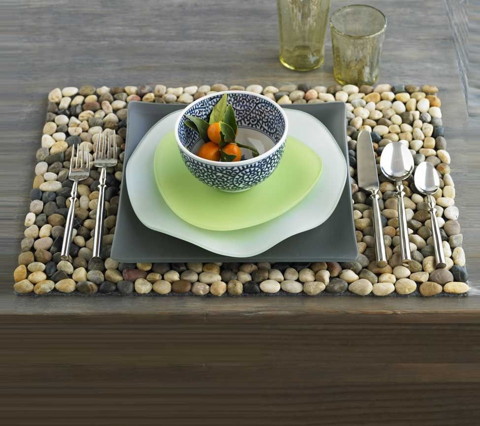 Multi-Color River Stone Placemats - VivaTerra (With images ...