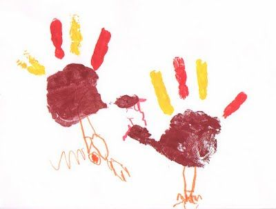 hand-print turkeys