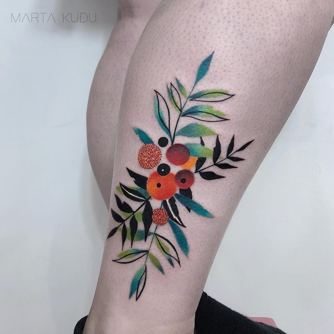 "Photo of Marta Kudu on Instagram: ""🌿booking -kudutattoo@gmail.com #art #tattooartist #inkedgirl #纹身 #tattoo #tattoos #tatuajes #문신 #入れ墨 #тату #graphic #tatouage #ink #inked…"""